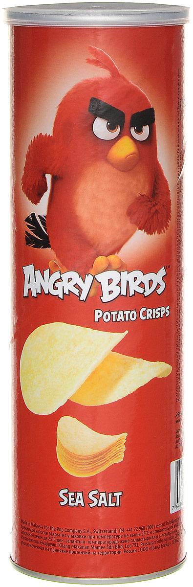 Angry Birds чипсы с морской солью, 160 г7640110242001Чипсы с морской солью Angry Birds - хрустящая картофельная закуска с настоящей морской солью и тонкими нотками перца!Возьмите с собой на пикник, в дорогу или в кинотеатр! Благодаря удобной тубе они не сломаются и не рассыплются. Рекомендуется подавать с нежными сливочными, медово-горчичными или томатными соусами.Уважаемые клиенты! Обращаем ваше внимание, что полный перечень состава продукта представлен на дополнительном изображении.