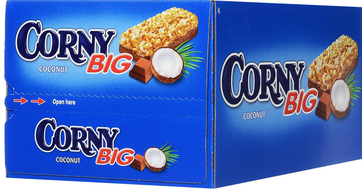 Corny полоска злаковая с кокосом и молочным шоколадом, 24 штбзк003_24 штукиЗлаковые батончики Corny - вкусная и здоровая альтернатива традиционным снэкам - шоколадным плиткам, чипсам и булкам. Батончики сочетают в себе исключительную пользу и удобство. В их состав входят злаки, орехи, фрукты и шоколад. Разнообразие видов позволяет каждому выбрать батончик по своему вкусу. Медленные углеводы заряжают полезной энергией, а удобная форма и упаковка соответствуют быстрому ритму жизни.Уважаемые клиенты! Обращаем ваше внимание, что полный перечень состава продукта представлен на дополнительном изображении.