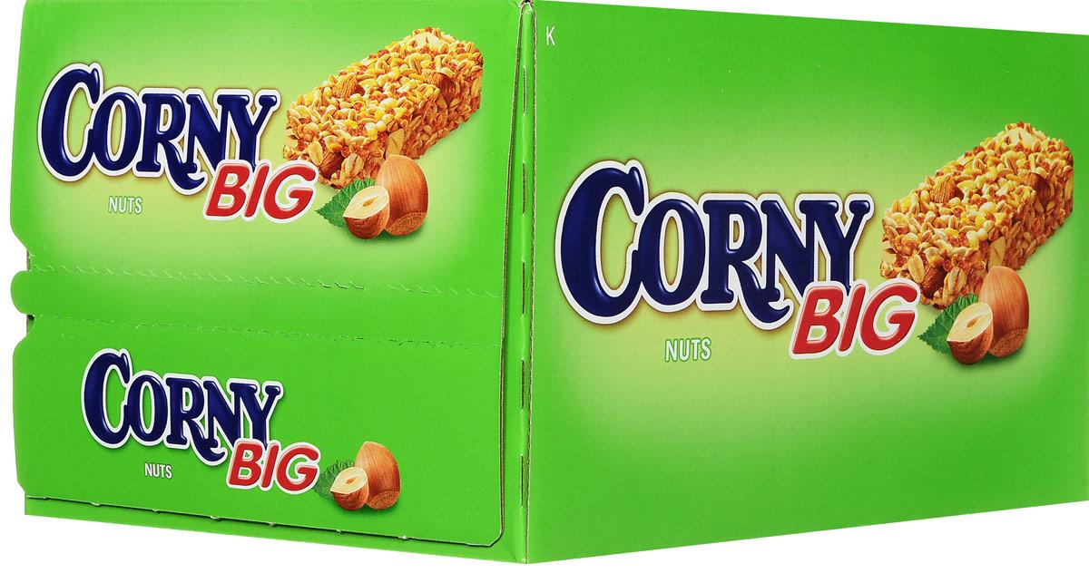 Corny полоска злаковая с лесными орехами, 24 шт пюре сами с усами ягодный салатик с 5 мес 100 г пауч