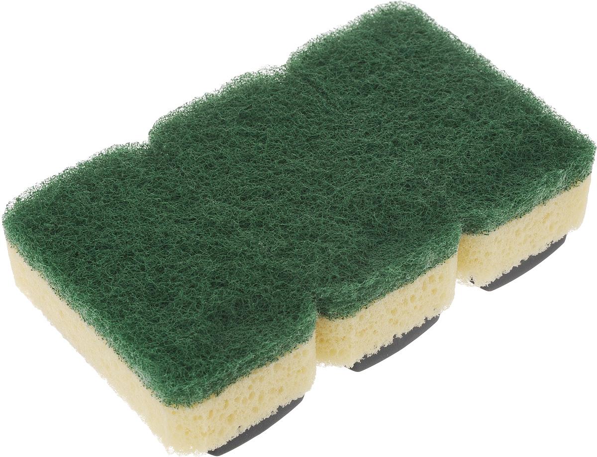 Губка Dishmatic Стандарт, сменная, 3 штBN-402Набор Dishmatic Стандарт предназначен для замены изношенных губок в изделиях бренда Dishmatic. Губка отлично очищает загрязнённые поверхности, а мягкий внутренний слой хорошо впитывает и вспенивает моющее средство. Губки изготовлены из переработанных материалов. Они позволяют позаботиться не только о чистоте в доме, но и о природе. Размер одной губки: 7,6 х 4,2 х 2,4 см.