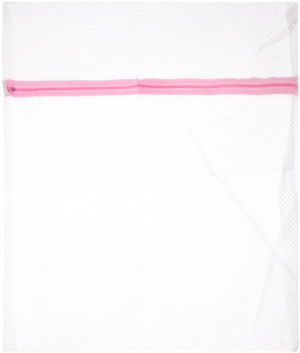 Мешок для стирки Bon, с застежкой, 56 х 50 смBN-402Мешок Bon предназначен для стирки вещей из деликатных тканей. Изготовлен из высококачественного материала. Имеет удобную и надежную застежку-молнию. Не окрашивает белье.Термостойкий мешок создан для бережной стирки, отжима, сушки деликатных и трикотажных изделий в стиральной машине. Предохраняет от зацепок и растягивания, исключает попадание мелких вещей и элементов одежды в механизм машины.