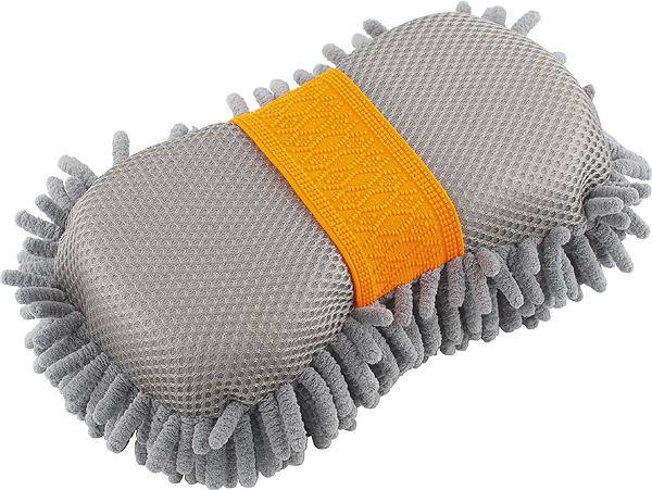 Губка для мойки кузова Stels Jump, 23 х 11 х 5,3 см55213Губка для мойки кузова Stels Jump, выполненная из высококачественной микрофибры, идеально подходит для мягкой чистки поверхности. Сетка на обратной стороне предназначена для снятия впитавшихся стойких загрязнений. Вбирает воду эффективнее обычных аналогов.