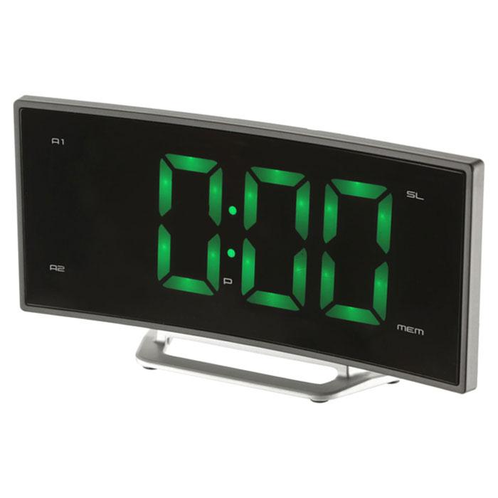 MAX CR-2905G, Black Green радиобудильник4630011250697Радио-будильник MAX CR-2905G оснащен большим дисплеем, на котором отображается основная информация.Дисплей показывает крупные цифры (высота - 4,7 сантиметра), подсвечиваемые в ночное время. Яркость свечениярегулируется кнопками на корпусе часов.Радио-часы способны запомнить и использовать два режима настройки будильника. Сигнал будильникасчитывается из внутренней памяти часов (зуммер) или из эфира FM/AМ радиостанций.MAX CR-2905G работает в режиме радиоприёмника, принимающего сигналы в FM/AМ диапазоне. В памятьустройства можно записать до 10 настроек на выбранные радиостанции.