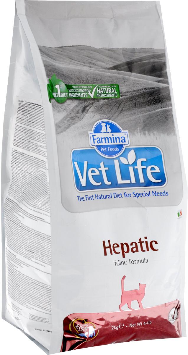 Корм сухой для кошек Farmina Vet Life, диетический, при хронической печеночной недостаточности, 2 кг сухой корм farmina vet life diabetic feline диета при сахарном диабете для кошек 2кг 25326