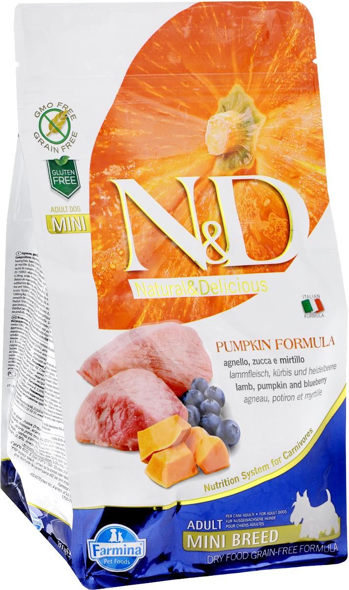 Корм сухой Farmina N&D для собак мелких пород, беззерновой, с ягненком, черникой и тыквой, 800 г