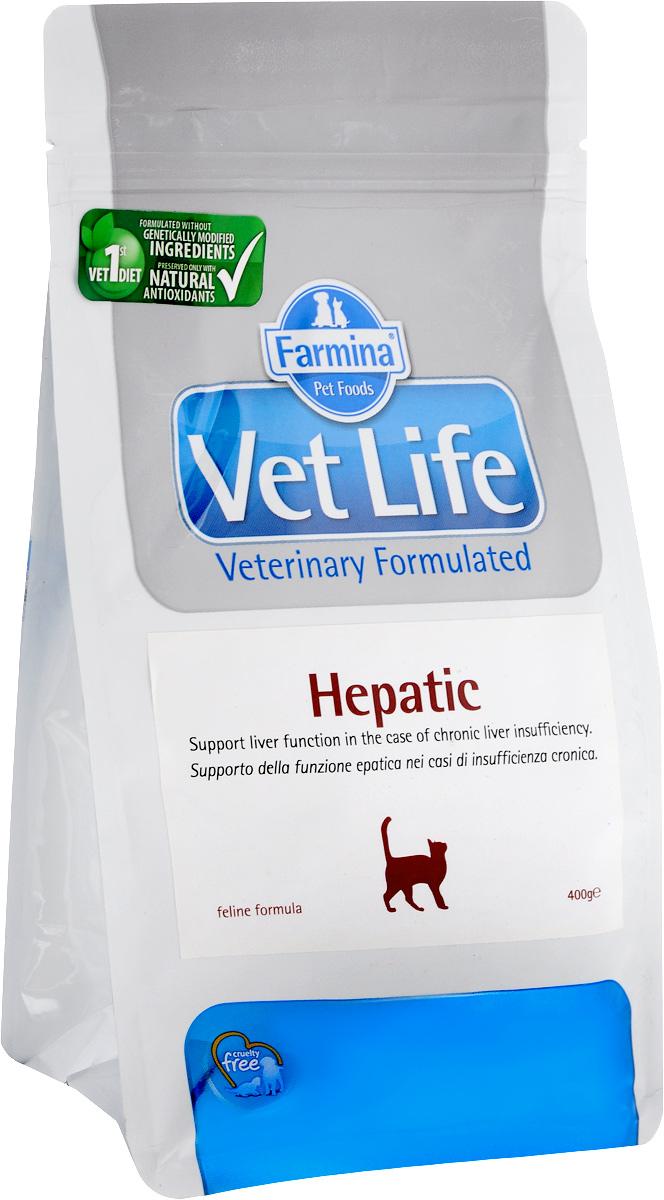 Корм сухой для кошек Farmina Vet Life, диетический, при хронической печеночной недостаточности, 400 г сухой корм farmina vet life diabetic feline диета при сахарном диабете для кошек 2кг 25326