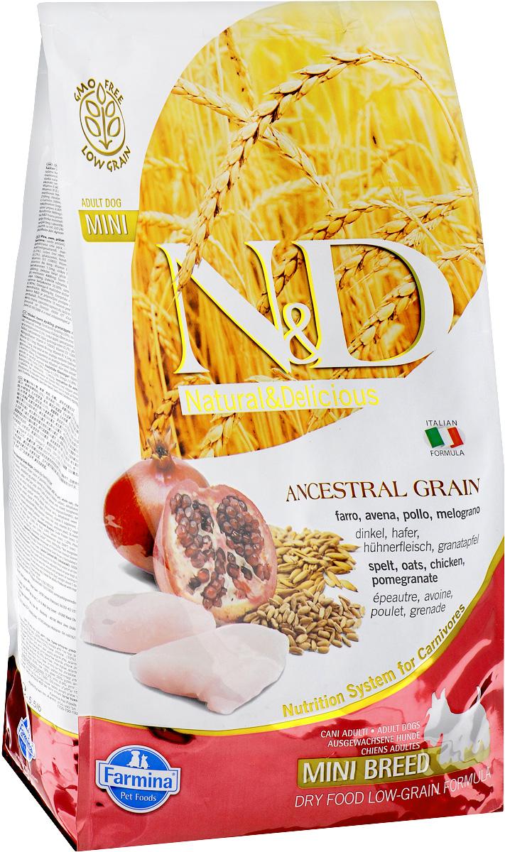 Корм сухой Farmina N&D для собак мелких пород, низкозерновой, с курицей и гранатом, 2,5 кг21984Сухой корм Farmina N&D является низкозерновым и сбалансированным питанием для взрослых собак мелких пород. Изделие имеет высокое содержание витаминов и питательных веществ. Сухой корм содержит натуральные компоненты, которые необходимы для полноценного и здорового питания домашних животных. Линия продуктов Farmina N&D - это сухие корма для собак, рецептура которых построена по принципу питания плотоядных животных. Товар сертифицирован.