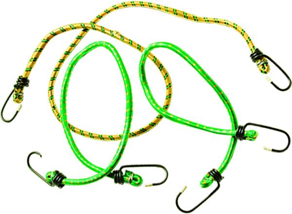 Резинки багажные Sparta, 3 шт543345Набор багажных ремней состоит из трех жгутов разной длины с крюками на концах. Применяется для закрепления грузов, например, на автомобильном багажнике.