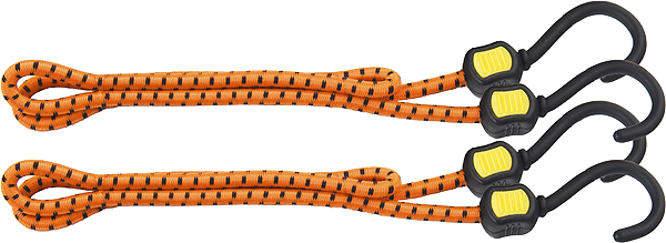 Резинки багажные Stels, с крючками, 60 см, 2 шт54362Багажная резинка предназначена для крепления грузов и предметов различных габаритов. Имеет обрезиненные крючки