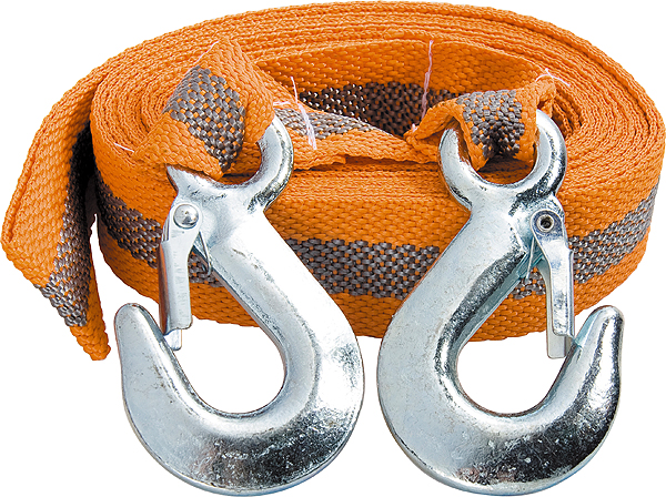 Трос буксировочный Stels, ленточный, с 2 крюками, 2,5 т, 5 м54371Буксировочный трос Stels представляет собой ленту из морозоустойчивого авиационного капрона и два металлических крюка. Специальное плетение ленты обеспечивает эластичность троса и плавный старт автомобиля при буксировке. На протяжении всего срока службы не меняет свои линейные размеры.Трос морозостойкий, влагостойкий и устойчив к агрессивным средами воздействию нефтепродуктов. Длина троса соответствует ПДД РФ.Буксировочный трос обязательно должен быть в каждом автомобиле. Он необходим на случай аварийной ситуации или если ваш автомобиль застрял на бездорожье.Максимальная нагрузка: 2,5 т.Длина троса: 5 м.