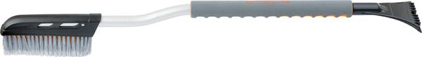 Щетка для снега Stels, со скребком, длина 92,5 см55300Щетка Stels оснащена щетиной с расщепленными концами, она не царапает поверхность при чистке снега. Широкий скребок ускоряет процесс очистки поверхности от льда. Уникальная форма щетки позволяет очищать труднодоступные места. Удобная, мягкая рукоятка.