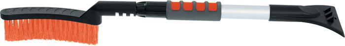 Щетка для снега Stels, телескопическая, со скребком, длина 70-92 см55304Щетка Stels имеет густую распушенную щетину для бережной очистки снега с поверхности. Она оснащена телескопической рукояткой из алюминиевого сплава с мягким держателем, а также мощным скребком с зубьями для дробления льда.