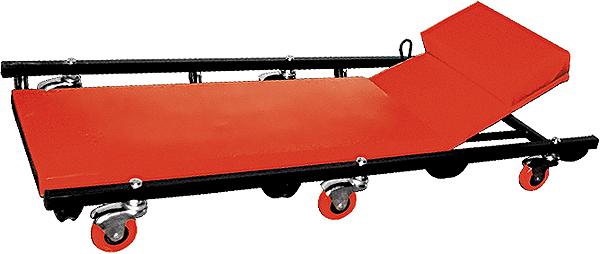 Лежак ремонтный Matrix, на колесах, 103 х 44 х 12 см567455Ремонтный лежак Matrix на 6 колесах имеет металлическуюоснову, мягкий поролоновый матрац и поднимающийсяподголовник. Изделие обеспечивает удобство проведенияремонта трансмиссии, систем питания, выпускной системы ипрочих работ.