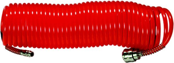 Шланг спиральный Matrix, длина 10 м57004Воздушный шланг Matrix изготовлен из стойкого к агрессивным средам нейлона. Изделие оснащено быстросъемными соединениями с антикоррозийным покрытием. Используется для соединения компрессора с различными насадками.Длина: 10 м.