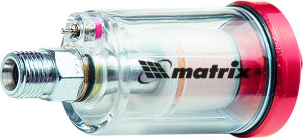 Влагоотделитель Matrix, 1/457008Фильтр влагоотделитель Matrix предназначен для удаления из воздуха частиц пыли, конденсата, масла.