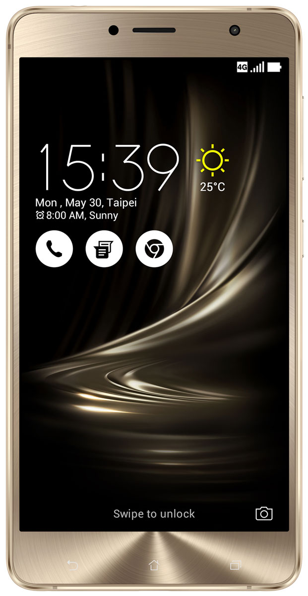 ASUS ZenFone 3 Deluxe ZS550KL, Gold (90AZ01F1-M00090)90AZ01F1-M00090Asus ZenFone 3 Deluxe ZS550KL - великолепный смартфон, в котором безупречное качество изготовления и техническое совершенство приводят к рождению уникальной формы - тонкого цельнометаллического корпуса без каких-либо пластиковых вставок для антенн.ZenFone 3 Deluxe - это чудо современных технологий, которое рождается в результате сложного производственного процесса, включающего в себя 240 этапов. Прецизионная фрезеровка заготовки для получения прочного и при этом тонкого корпуса, полировка металлической рамки методом пескоструйной обработки - каждый этап представляет собой еще один шаг на пути к техническому совершенству, которым является новый смартфон Asus.Все, что вы увидите на 5,5-дюймовом экране смартфона ZenFone 3 Deluxe, будет таким же реалистичным, как сама реальность, ведь он изготовлен по технологии Super AMOLED, наделяющей его невероятной яркостью, обладает высоким разрешением Full-HD (1920x1080 пикселей), потрясающей контрастностью (3 000 000:1) и расширенным цветовым охватом (более 100% цветового пространства NTSC) - и все это дополнено интеллектуальными алгоритмами обработки изображения (технология ASUS Tru2Life). Благодаря очень тонкой рамке (всего 1,3 мм), размер дисплея составляет целых 79% от размера всей передней панели устройства, а функция работы в спящем режиме позволяет выводить на экран важную информацию при минимальном энергопотреблении.В Asus ZenFone 3 Deluxe ZS550KL применяется высокопроизводительный процессор Qualcomm Snapdragon 625, изготовленный по современнейшей технологии 14 нм. Потребляя меньше электроэнергии, этот чип обеспечивает более высокую скорость работы приложений.Расположенный на задней панели сканер отпечатка пальца служит не только для моментальной разблокировки смартфона, но и поддерживает несколько других полезных функций.Модель оснащается 16-мегапиксельным сенсором, светосильным объективом f/2.0 и системой тройной следящей автофокусировки TriTech с быстр