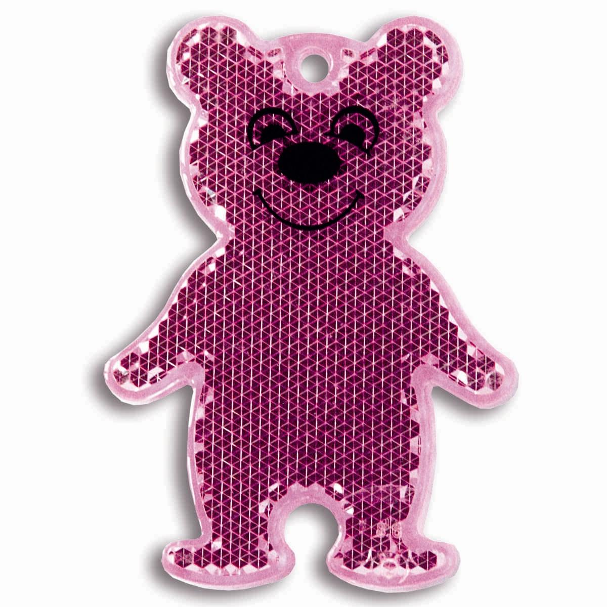 Светоотражатель пешеходный Coreflect Мишка, цвет: розовый