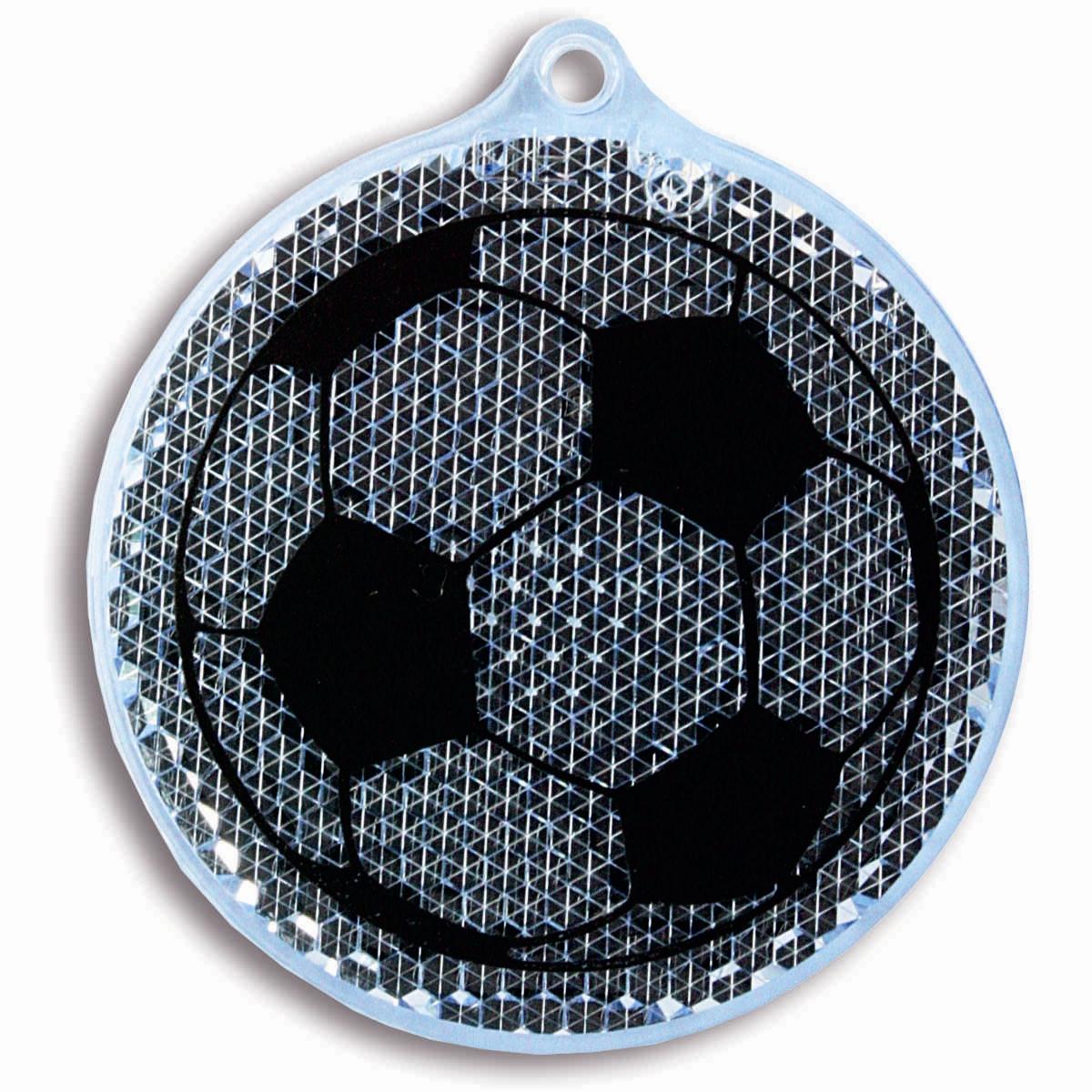 Светоотражатель пешеходный Coreflect Мяч, цвет: синий118702Пешеходный светоотражатель — это серьезное средство безопасности на дороге. Использование светоотражателей позволяет в десятки раз сократить количество ДТП с участием пешеходов в темное время суток. Светоотражатель крепится на одежду и обладает способностью к направленному отражению светового потока. Благодаря такому отражению, водитель может вовремя заметить пешехода в темноте, даже если он стоит или двигается по обочине. А значит, он успеет среагировать и избежит возможного столкновения. С 1 июля 2015 года ношение светоотражателей вне населенных пунктов является обязательным для пешеходов! Мы рекомендуем носить их и в городе! Для безопасности и сохранения жизни!