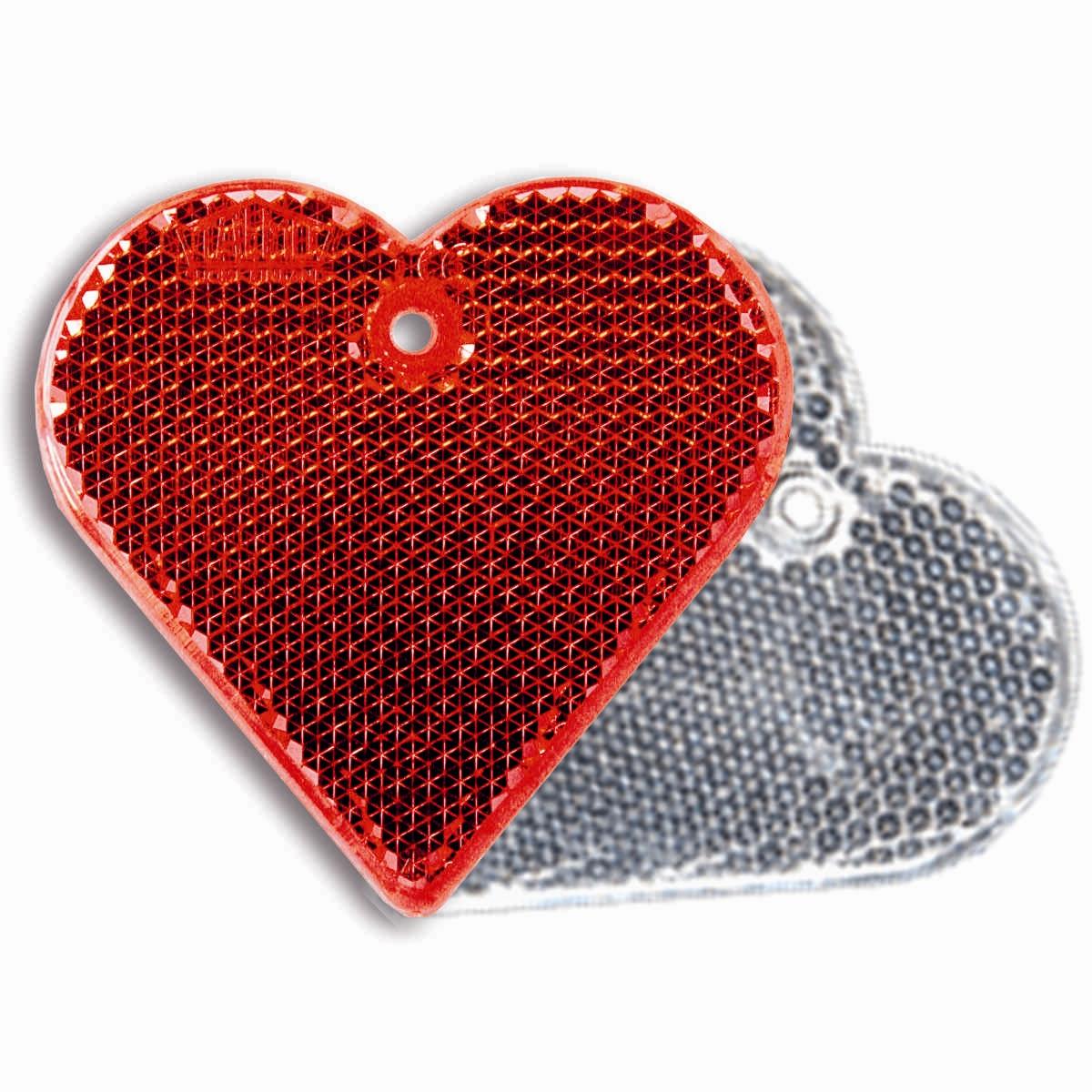 Светоотражатель пешеходный Coreflect Сердце, цвет: красный, белый