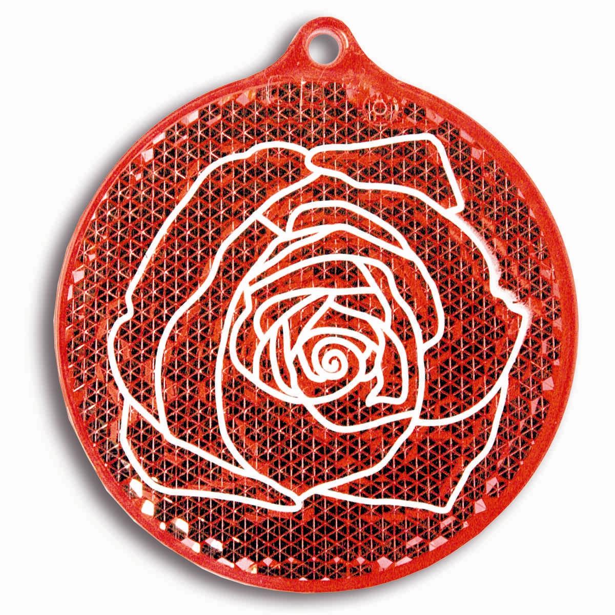 Светоотражатель пешеходный Coreflect Роза, цвет: красный
