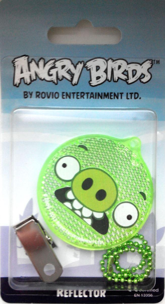 Светоотражатель пешеходный Coreflect Angry Birds Pig Angry, цвет: зеленый123879Пешеходный светоотражатель - это серьезное средство безопасности на дороге. Использование светоотражателей позволяет в десятки раз сократить количество ДТП с участием пешеходов в темное время суток. Светоотражатель крепится на одежду и обладает способностью к направленному отражению светового потока. Благодаря такому отражению, водитель может вовремя заметить пешехода в темноте, даже если он стоит или двигается по обочине. А значит, он успеет среагировать и избежит возможного столкновения. С 1 июля 2015 года ношение светоотражателей вне населенных пунктов является обязательным для пешеходов! Мы рекомендуем носить их и в городе! Для безопасности и сохранения жизни!