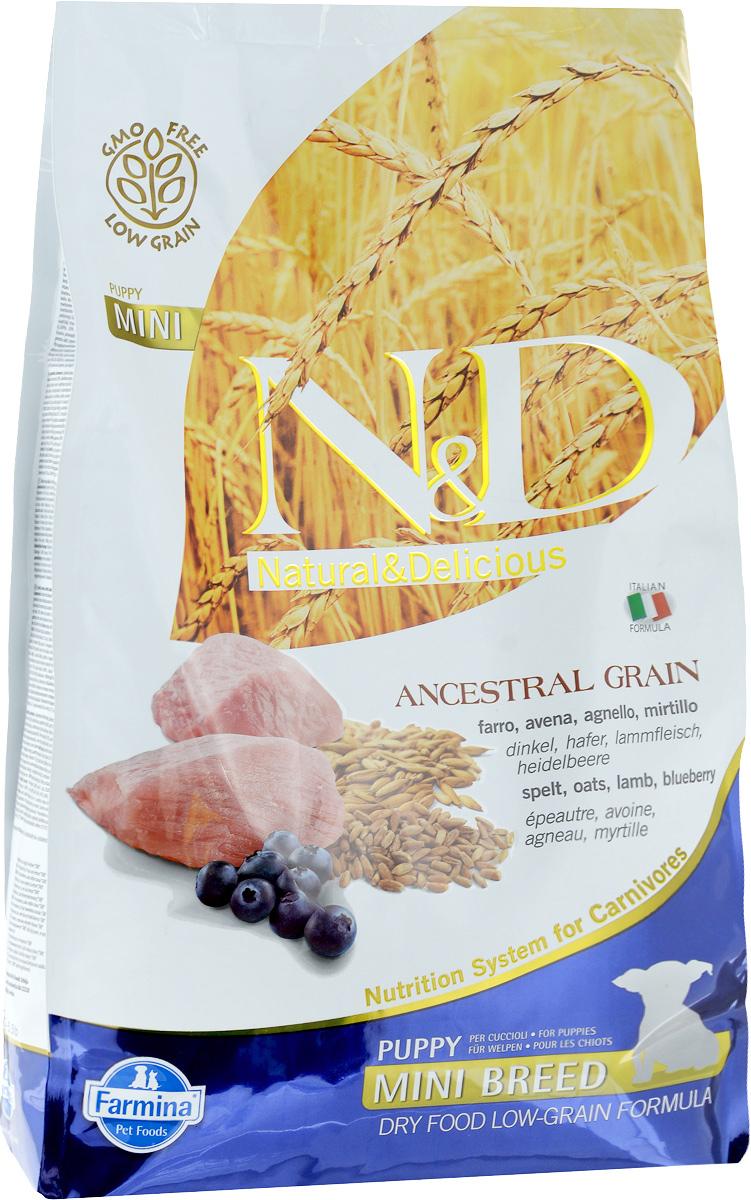 Корм сухой Farmina N&D для щенков мелких пород, низкозерновой, с ягненком и черникой, 2,5 кг farmina farmina n