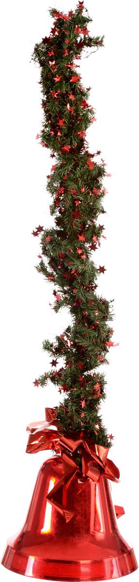 Украшение новогоднее подвесное Weiste  Колокол , цвет: красный, зеленый, длина 75 см - Украшения