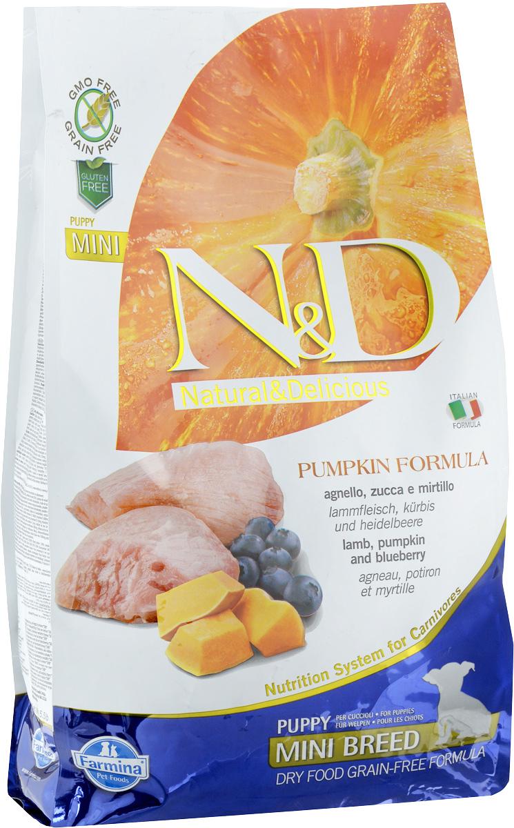 Корм сухой Farmina N&D для щенков мелких пород, беззерновой, с ягненком, черникой и тыквой, 2,5 кг33239Сухой корм Farmina N&D является беззерновым и сбалансированным питанием для щенков мелких пород, также подходит для беременных и кормящих собак. Изделие имеет высокое содержание витаминов и питательных веществ. Сухой корм содержит натуральные компоненты, которые необходимы для полноценного и здорового питания домашних животных.Товар сертифицирован.