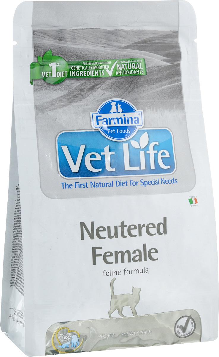 Корм сухой Farmina Vet Life для стерилизованных кошек, диетический, 400 г22547Сухой корм Farmina Vet Life - диетическое полнорационное и сбалансированное питание для взрослых стерилизованных кошек. Сниженная энергетическая плотность продукта ограничивает риск развития ожирения. Высокая биологическая ценность белков и L-карнитин способствуют поддержанию мышечной массы и использованию запасов жиров. Низкое содержание углеводов снижает вероятность развития диабета. Низкое содержание фосфора и магния, а также сульфат кальция профилактируют развитие мочекаменной болезни.Товар сертифицирован.