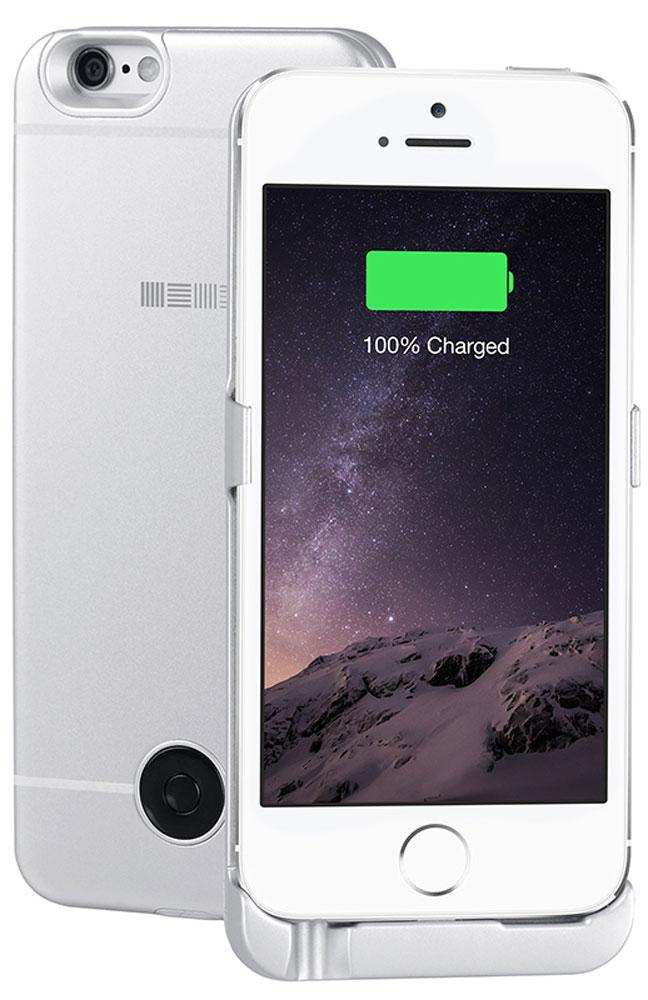 Interstep чехол-аккумулятор для Apple iPhone 5/5s/SE, Silver (2200 мАч)45546Чехол-аккумулятор Interstep - стильный и надежный аксессуар для Apple iPhone 5/5s/SE толщиной всего в 5 мм. Компактные размеры, элегантный дизайн и прочный материал корпуса позволят Interstep не только надежно защитить смартфон от ударов, грязи и царапин, но придадут телефону стильный внешний вид.Встроенный аккумулятор емкостью в 2200 мАч обеспечит смартфон своевременной подзарядкой в самые нужные моменты его использования. Заряжать телефон можно, не извлекая его из чехла, просто подключив адаптер смартфона к чехлу-аккумулятору.