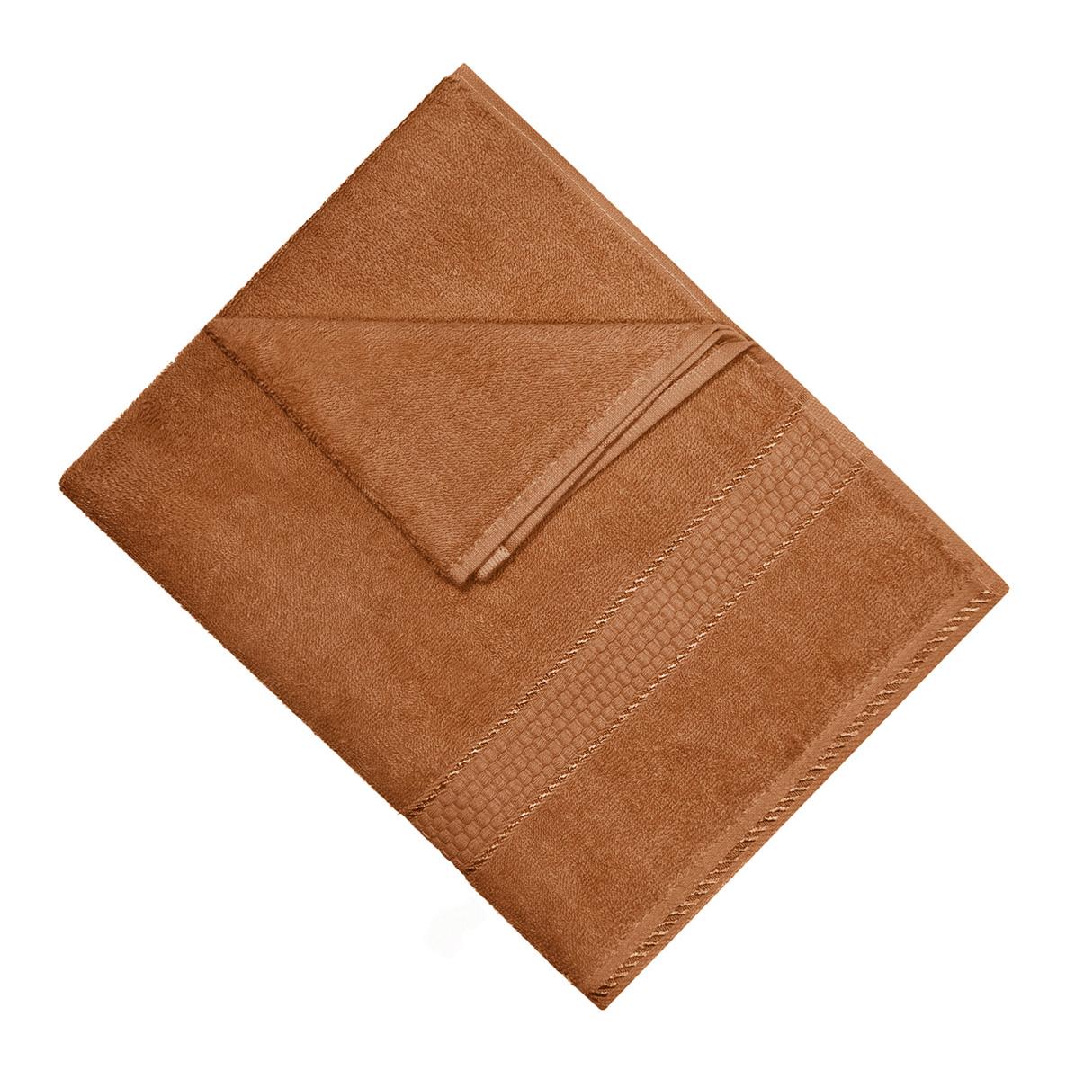 Полотенце Aisha Home Textile, цвет: коричневый, 70 х 140 см. УзТ-ПМ-114-08-20кУзТ-ПМ-114-08-20кМахровые полотенца AISHA Home Textile идеальное сочетание цены и качества. Полотенца упакованы в стильную подарочную коробку. В состав входит только натуральное волокно - хлопок. Лаконичные бордюры подойдут для любого интерьера ванной комнаты. Полотенца прекрасно впитывает влагу и быстро сохнут. При соблюдении рекомендаций по уходу не линяют и не теряют форму даже после многократных стирок. Плотность: 420 г/м2.