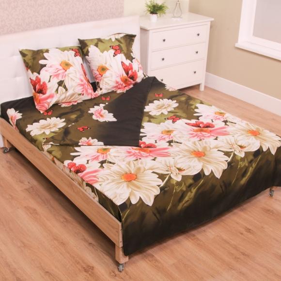 Комплект белья ЭГО Сказочный вечер, 2-спальный, наволочки 70x70, цвет: зеленый
