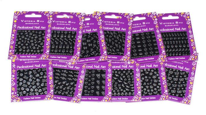 Victoria Shu Наклейки для ногтей NS012 (1 шт), 57 г1082V15672Наклейки для ногтей позволяют украсить ногти так, как это невозможно сделать при помощи обычного лака. Гипоаллергенно