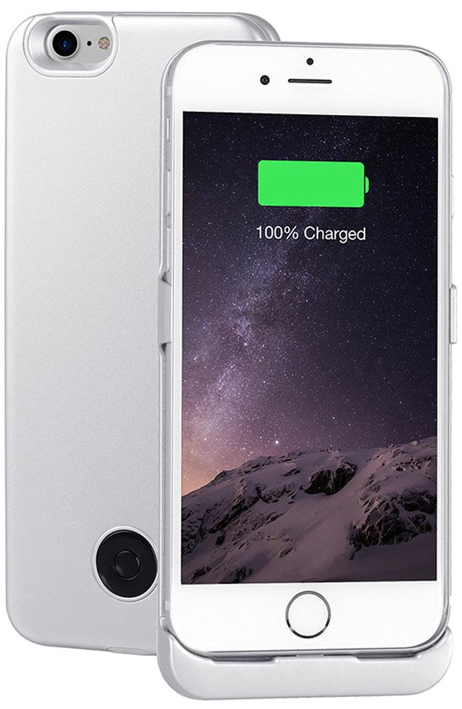 Interstep чехол-аккумулятор для Apple iPhone 7, Silver (3000 мАч) смартфоны apple смартфон iphone 7 plus 32gb silver