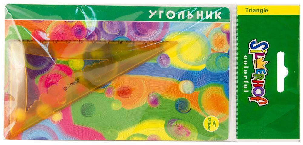 Silwerhof Угольник Colorful 60 градусов 12 см540093Объемный угольник Silwerhof со скошенными кромками станет вашим незаменимым помощником. Удобная форма помогает без труда понять чертежный предмет со стола. Выполнен из прозрачного цветного пластика с ровной четкой миллиметровой шкалой делений по двум сторонам до 12 см и 7 см.