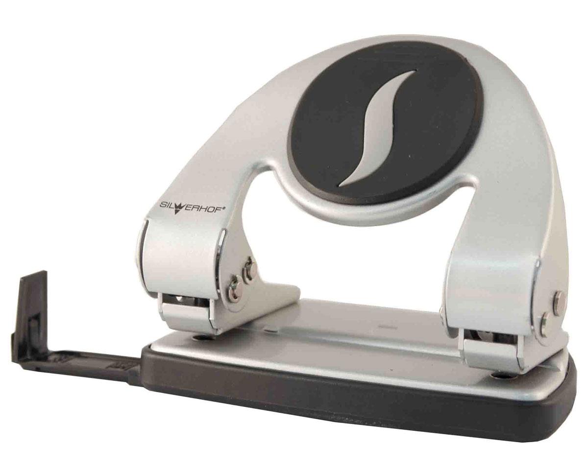 Silwerhof Дырокол Stalker на 20 листов цвет серебро392005-41Надежный дырокол Silwerhof - это незаменимый офисный инструмент для перфорации картона и бумаги.Цельнометаллический дырокол с эргономичной вставкой на корпусе предназначен для одновременной перфорации до 20 листов бумаги 80 г/м. Для удобства дырокол оснащен выдвижной линейкой с разметкой для документов различных форматов.