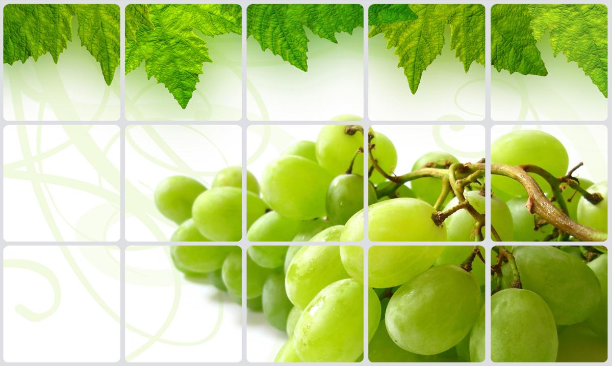 """Износостойкий полиэтиленовый экран Bradex """"Виноградная гроздь"""" на клейкой основе спасет вашу кухню от жирных пятен и других трудновыводимых загрязнений, избежать которых в процессе готовки не удается никому. Экран удобно чистить, он выполнен из нетоксичных материалов и способен выдерживать довольно высокие температуры. Наклейка с ярким изображением овощей будет замечательно смотреться не только на кухонном фартуке, но и на любой другой поверхности.Готовьте с удовольствием и не переживайте из-за пятен с полиэтиленовым экраном."""