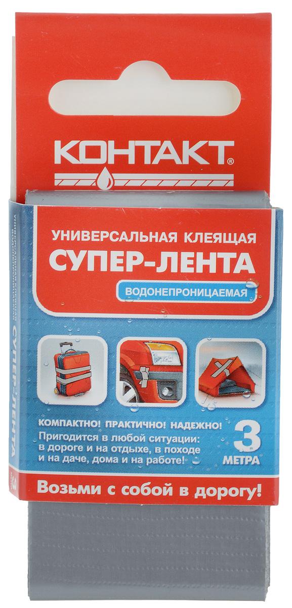 Лента клеящая Контакт, универсальная, цвет: серый, 3 м21384/Лф 240-К03 СТрехслойная водонепроницаемая клеящая лента Контактпредназначена для герметизации, упаковки и быстрогоремонта. Используется для наружных и внутренних работ. Ленталегко надрывается руками поперек, также устойчива к УФлучам. Диапазон температур от -10 до +60°С.