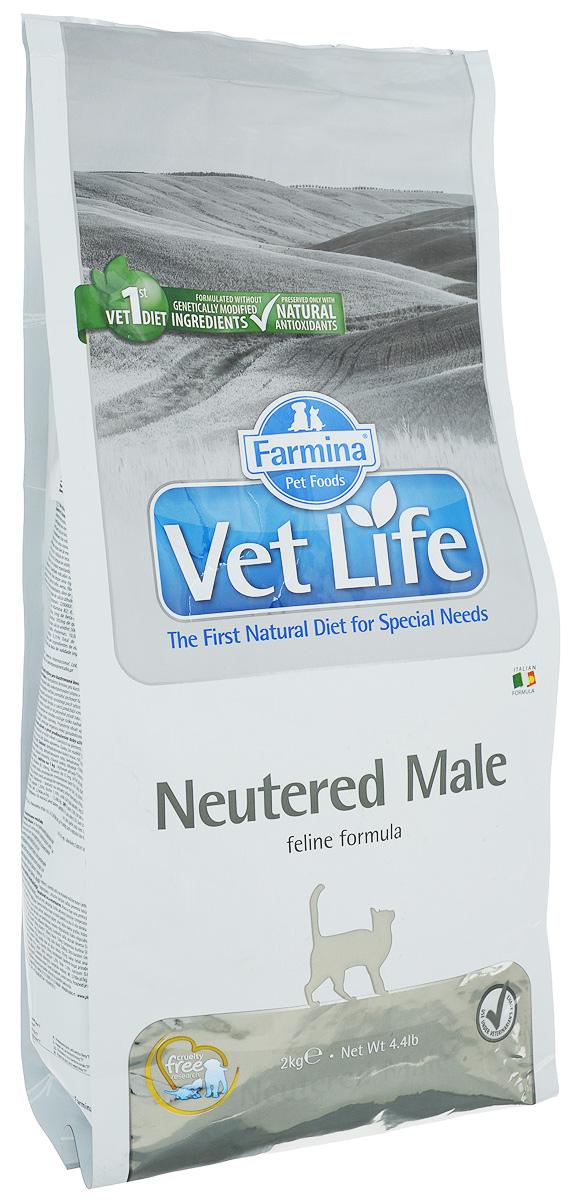 Корм сухой Farmina Vet Life для взрослых кастрированных котов, диетический, 2 кг22493Сухой корм Farmina Vet Life - это диетическое полнорационное и сбалансированное питание для взрослых кастрированных котов.Сниженная энергетическая плотность продукта ограничивает риск развития ожирения. Высокая биологическая ценность белков и L-карнитин способствуют поддержанию мышечной массы и использованию запасов жиров. Низкое содержание углеводов снижает вероятность развития диабета. Низкое содержание фосфора и магния, а также сульфат кальция снижают риск развития мочекаменной болезни.Товар сертифицирован.