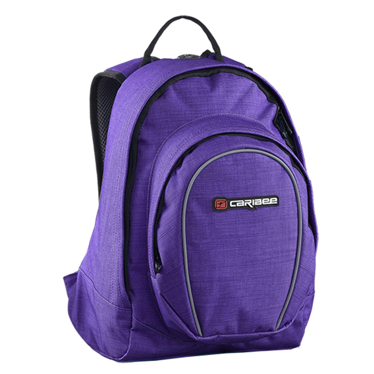 Рюкзак городской Caribee Spice, цвет: фиолетовый, 18 л62291Женский рюкзак Caribee Spice выполнен из износостойкой ткани – полиэстера, известной тем, что она не впитывает влагу и устойчива к воздействию ультрафиолетовых лучей. Те части рюкзака, которые непосредственно соприкасаются со спиной и плечами, выкроены с учетом анатомических особенностей и оснащены мягкой подкладкой. Это типичный городской рюкзак, который подойдет для девушки, ведущей активный образ жизни. Несколько отделений изделия позволяют сортировать содержимое, также как и отдельный кармашек для плеера решает проблему его размещения. При желании данный рюкзак может заменить женскую сумочку в дальней поездке.Основные характеристики: -сдвоенное отделение, -отделение для плеера с Cord-портом, -встроенный органайзер, -фронтальный карман на молнии.Объем: 20 л.Размер: 38 x 28 x 18 см.