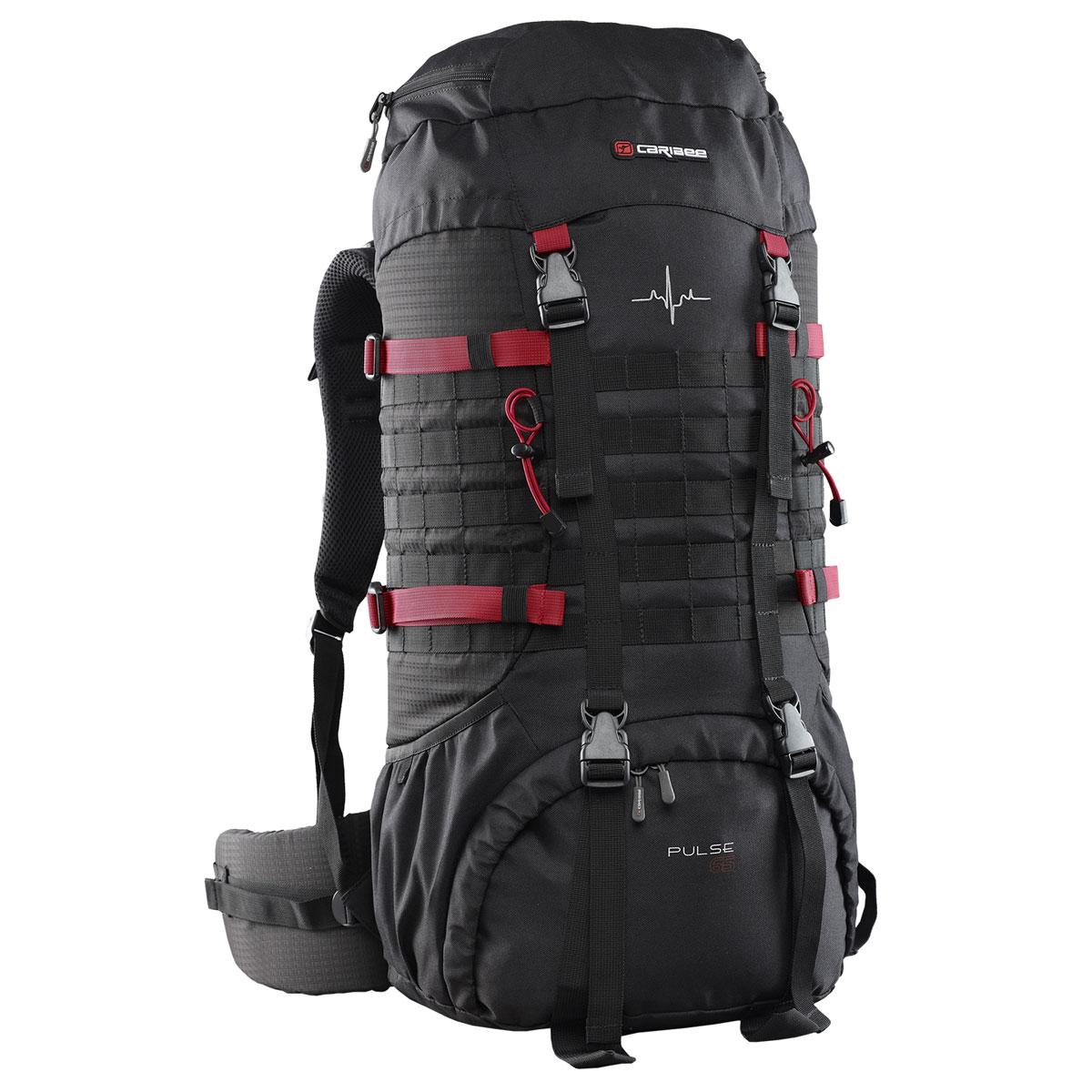 Рюкзак туристический Caribee Pulse, 65 л6612Универсальный рюкзак Caribee Pulse, который идеально подходит для пешего туризма, альпинизма и треккинга. Особенности модели:- боковые стяжки служат для фиксации содержимого рюкзака,- рюкзак оснащён двумя боковыми открытыми карманами,- дополнительно рюкзак оборудован модульной системой molle для навеса дополнительного оборудования,- лямки увеличенного размера в нижней части рюкзака предназначены для крепления дополнительного оборудования,- фронтальный вход в нижней части рюкзака можно изолировать от основного отделения посредством стяжек,- изготовлен рюкзак из полиэстера, поэтому рюкзак стоек к износу и истиранию, не впитывает влагу и не разрушается под действием ультрафиолетового излучения,- рюкзак совместим с питьевой системой.