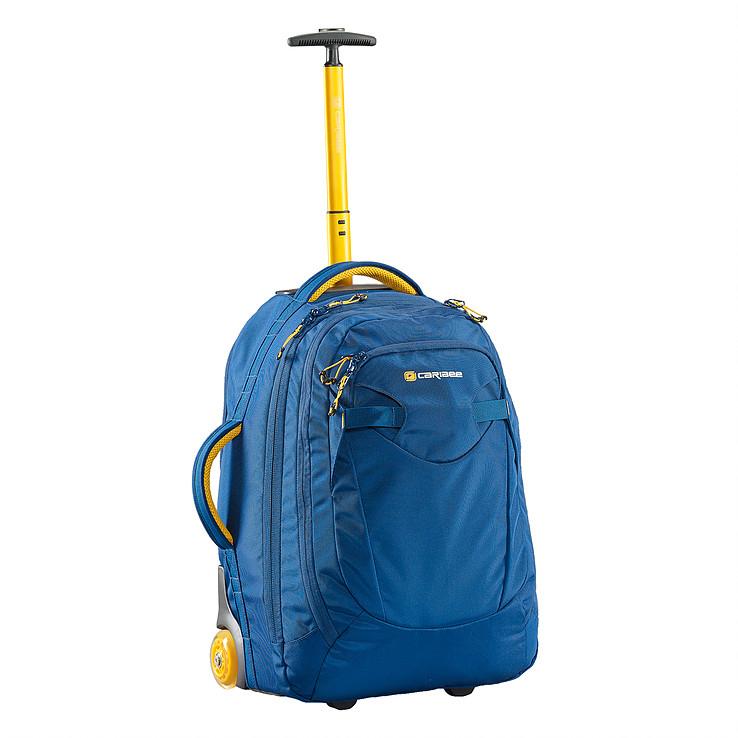 Рюкзак на колесах Caribee Fast Track, цвет: синий, 45 л69022Легкий рюкзак Caribee Fast Track на колесах для путешествий соответствует международным стандартам, допускаемым на борт самолета (115 см). Модель имеет мягкую удобную спинку, легкий алюминиевый каркас с колесиками, боковое крепление колес, встроенный органайзер.Две ручки для переноса рюкзака в горизонтальном и вертикальном положении. Несколько отделений.Объем: 45 л.Размер: 54 x 36 x 30 см.