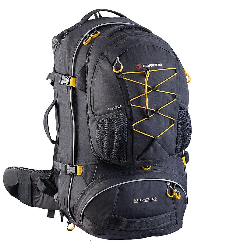Рюкзак для путешествий Caribee  Mallorca , цвет: темно-серый, 80 л - Сумки