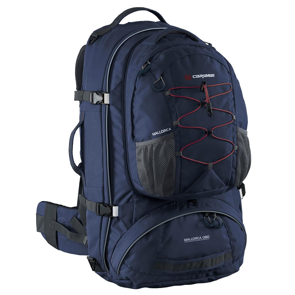 Рюкзак для путешествий Caribee Mallorca, цвет: темно-синий, 70 л рюкзак caribee trek цвет черный 32 л