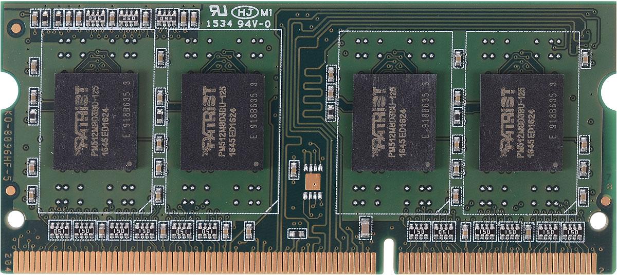 Patriot DDR3 SO-DIMM 4Gb 1600МГц модуль оперативной памяти (PSD34G1600L81S) ddr3 dimm 4gb 1600