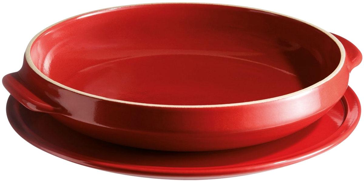 Блюдо для выпечки Emile Henry Татен, цвет: гранат, диаметр 28 см emile henry тажин 3 5 л 32 см базальт