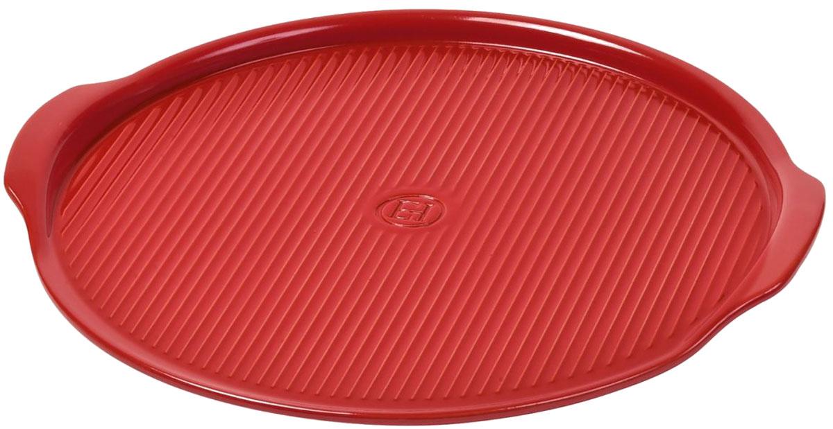 Блюдо для пиццы Emile Henry, цвет: гранат, диаметр 32 см347612Блюдо для пиццы Emile Henry предназначено для приготовления, нарезания и сервировки пиццы. Блюдо огнеупорно, и его жароустойчивые свойства обеспечивают появление идеально хрустящей корочки пиццы. Чтобы пицца долго оставалась горячей, подавайте ее на стол прямо на блюде. Смело разрезайте пиццу на куски, не боясь поцарапать поверхность блюда ножом. Гладкое покрытие не царапается и легко моется как вручную, так и в посудомоечной машине. Рассчитано на 4 порции. Подходит приготовления в духовке, на барбекю-решетке угольных и газовых грилей.