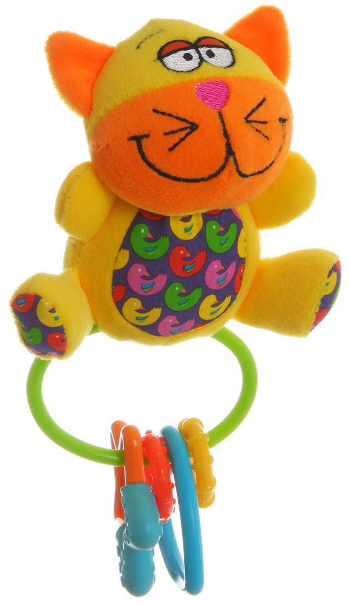 Bondibon Мягкая игрушка-погремушка Кот-пищалка погремушки s s мягкая погремушка минибамбини