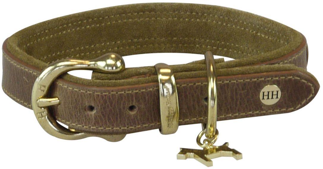 """Ошейник для собак Happy House """"Luxury"""", цвет: коньячный, обхват шеи 48-55 см, ширина 3,5 см. Размер XL"""