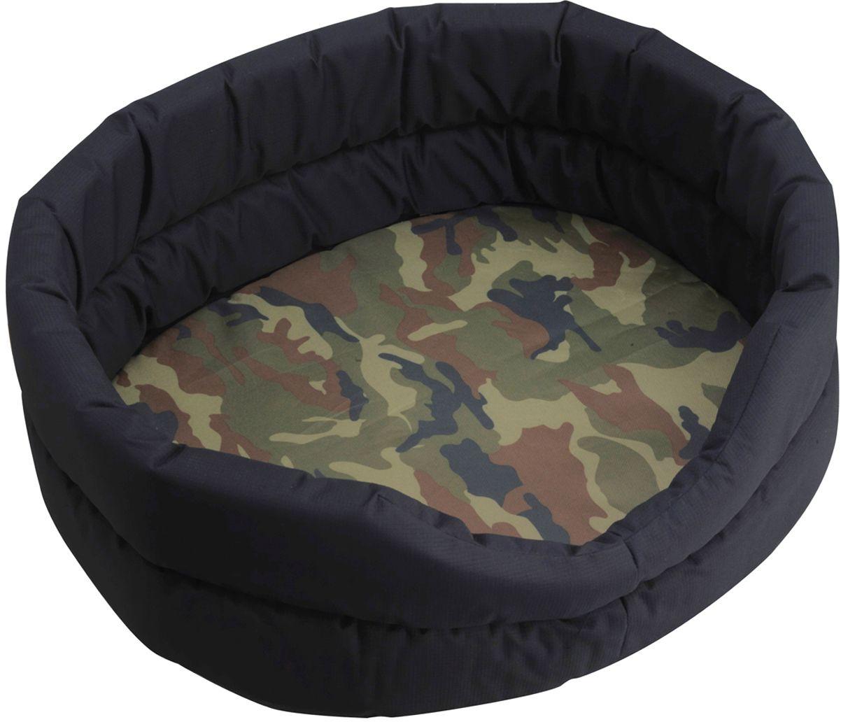 Лежак для собак Happy House Outdoor, цвет: камуфляж, 52 х 43 х 17 см8715-2Мягкий лежак для собак Happy House Outdoor обязательно понравится вашему питомцу. Он выполнен из высококачественного хлопка, а наполнитель из полиэстера. Такой материал не теряет своей формы долгое время.Лежак оснащен съемной подстилкой. Высокие борта обеспечат вашему любимцу уют. За изделием легко ухаживать, его можно стирать вручную. Мягкий лежак станет излюбленным местом вашего питомца, подарит ему спокойный и комфортный сон, а также убережет вашу мебель от многочисленной шерсти.